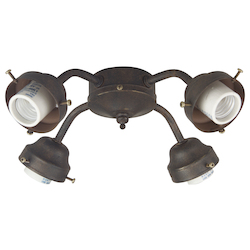 Craftmade Aged Bronze Four Light Ceiling Fan Fitter