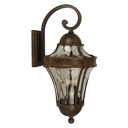 Craftmade Aged Bronze Parish 3 Light Outdoor Wall Sconce - 11 Inches Wide