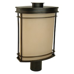 Craftmade Oiled Bronze Vale 1 Light Outdoor Post Light