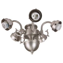 Craftmade Brushed Nickel Five Light Ceiling Fan Fitter