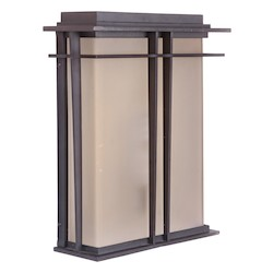 Craftmade Oiled Bronze Winslow 2 Light Outdoor Wall Sconce - 10.4 Inches Wide