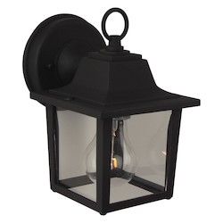 Craftmade Matte Black Coach Lights 1 Light Outdoor Wall Sconce - 5.25 Inches Wide