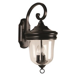 Craftmade Oiled Bronze Gilded 3 Light Light Outdoor Wall Sconce Fredericksburg Collection