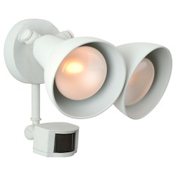 Craftmade Motion Light With No Shade, White Finish