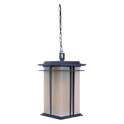 Craftmade Oiled Bronze Winslow 1 Light Square Outdoor Pendant - 9.13 Inches Wide