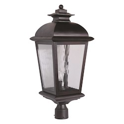 Craftmade Oiled Bronze Branbury 3 Light Post Light