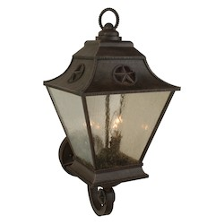 Craftmade Rust Chaparral 3 Light Outdoor Wall Sconce - 11.5 Inches Wide