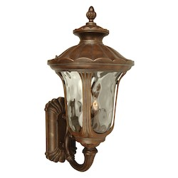 Craftmade Aged Bronze Scheffield 3 Light Outdoor Wall Sconce - 14 Inches Wide