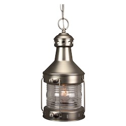 Craftmade Brushed Nickel Nautical 1 Light Lantern Outdoor Pendant - 9 Inches Wide