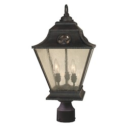 Craftmade Rust Chaparral 3 Light Large Post Light