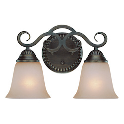Craftmade Two Light Century Bronze Painted Glass Vanity