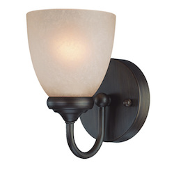 Craftmade One Light Bronze Bathroom Sconce