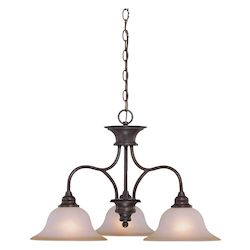 Craftmade Three Light Old Bronze Down Chandelier