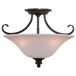 Craftmade Three Light Old Bronze Bowl Semi-Flush Mount