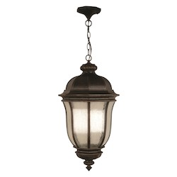 Craftmade Open Box Peruvian Bronze Harper 3 Light Lantern Outdoor Pendant - 12 Inches Wide