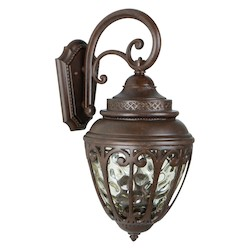 Craftmade Aged Bronze Olivier 3 Light Outdoor Wall Sconce - 10 Inches Wide