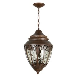 Craftmade Aged Bronze Olivier 3 Light Lantern Outdoor Pendant - 12 Inches Wide