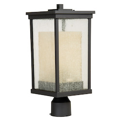Craftmade Oiled Bronze Riviera 1 Light Post Light - 8 Inches Wide