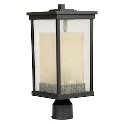 Craftmade Oiled Bronze Riviera 1 Light Energy Star Post Light - 8 Inches Wide