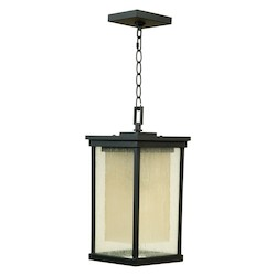 Craftmade Oiled Bronze Riviera 1 Light Rectangular Outdoor Pendant - 8 Inches Wide