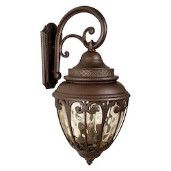 Craftmade Aged Bronze Olivier 3 Light Outdoor Wall Sconce - 14 Inches Wide