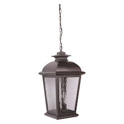 Craftmade Oiled Bronze Branbury 3 Light Rectangular Outdoor Pendant - 11 Inches Wide