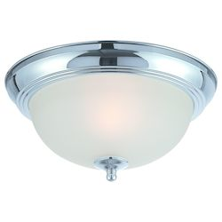 Craftmade One Light Chrome Painted Glass Bowl Flush Mount