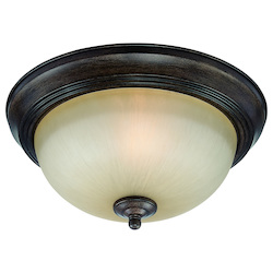 Craftmade One Light Century Bronze Painted Glass Bowl Flush Mount