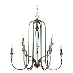 Craftmade Nine Light Mocha Bronze Up Chandelier