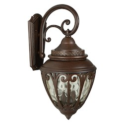 Craftmade Aged Bronze Olivier 3 Light Outdoor Wall Sconce - 12 Inches Wide