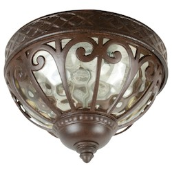 Craftmade Aged Bronze Olivier 2 Light Outdoor Ceiling Light