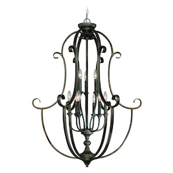 Craftmade Nine Light Mocha Bronze Open Frame Foyer Hall Fixture
