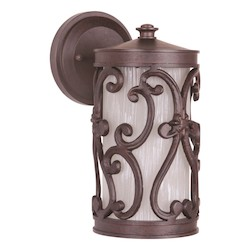 Craftmade Aged Bronze Glendale 1 Light Outdoor Wall Sconce - 5 Inches Wide