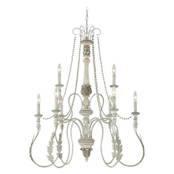 Craftmade Nine Light Antique Linen Up Chandelier