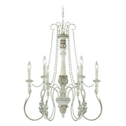 Craftmade Six Light Antique Linen Up Chandelier