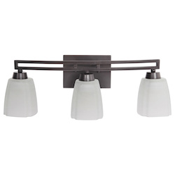 Craftmade Vanity Light With Opal Glass Shades Oiled Bronze Finish