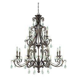 Craftmade Twelve Light French Roast Up Chandelier