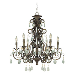 Craftmade Six Light French Roast Up Chandelier