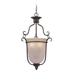 Craftmade Three Light Old Bronze Foyer Hall Pendant