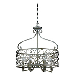 Craftmade Six Light Athenian Obol Foyer Hall Pendant
