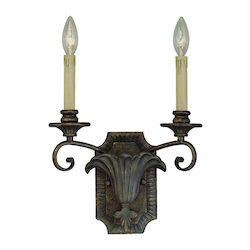 Craftmade Two Light Burleson Bronze Wall Light