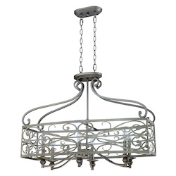 Craftmade Six Light Athenian Obol Island Light