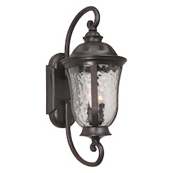 Craftmade Oiled Bronze Frances 3 Light Outdoor Wall Sconce - 12 Inches Wide