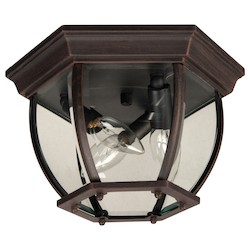 Craftmade Light Medium Outdoor Ceiling Flush Mount In Rust
