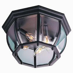 Craftmade Matte Black 4 Light Outdoor Flush Mount Ceiling Light