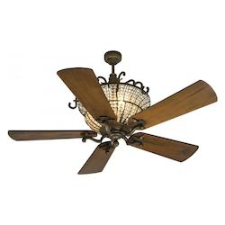 Craftmade Peruvian 52in. 5 Blade DC Motor Indoor Ceiling Fan - Remote Control Included