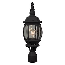 Craftmade Matte Black French Style 1 Light Post Light