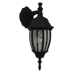 Craftmade Matte Black Bent Glass 1 Light Outdoor Wall Sconce - 6.5 Inches Wide