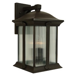 Craftmade Oiled Bronze Summit 3 Light Outdoor Wall Sconce - 8.75 Inches Wide