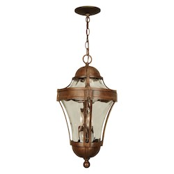 Craftmade Aged Bronze Parish 3 Light Lantern Outdoor Pendant - 11 Inches Wide